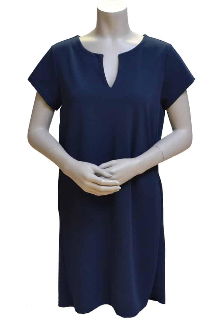 Gemma Ricceri Basic Jurk Donkerblauw V-hals