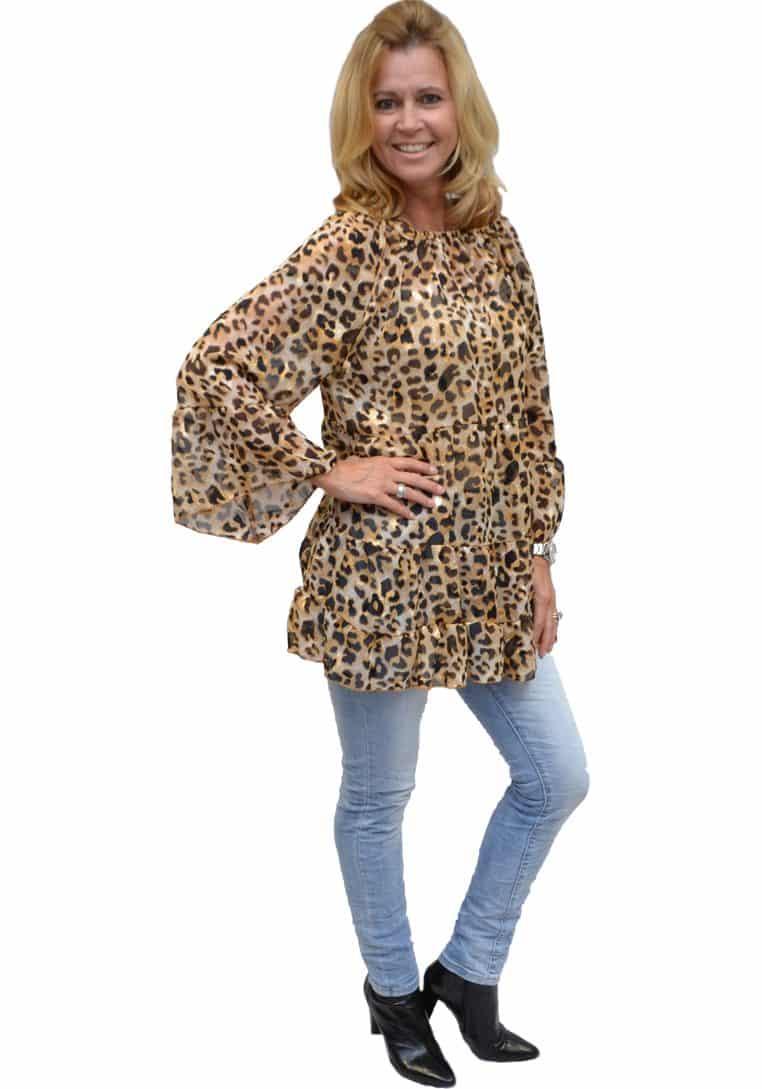 Gemma Ricceri Tuniek Bruin Leopard
