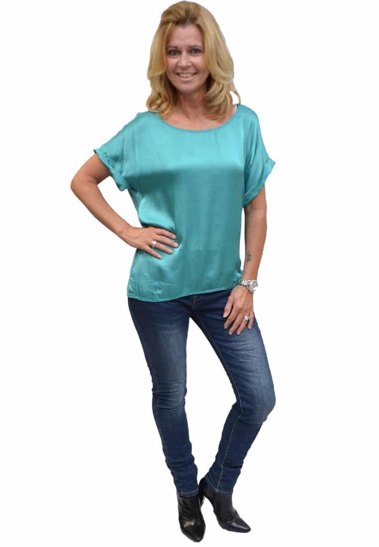 Gemma Ricceri Shirt Mint Zijkant