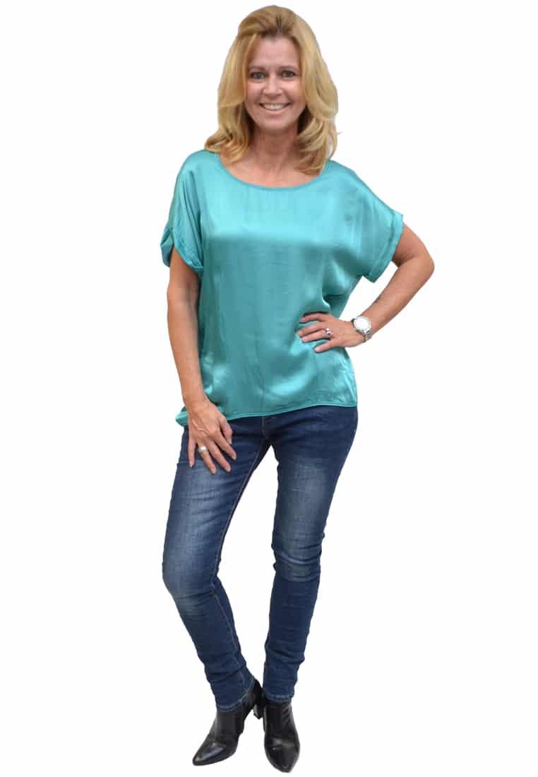 Gemma Ricceri Shirt Mint Voorkant