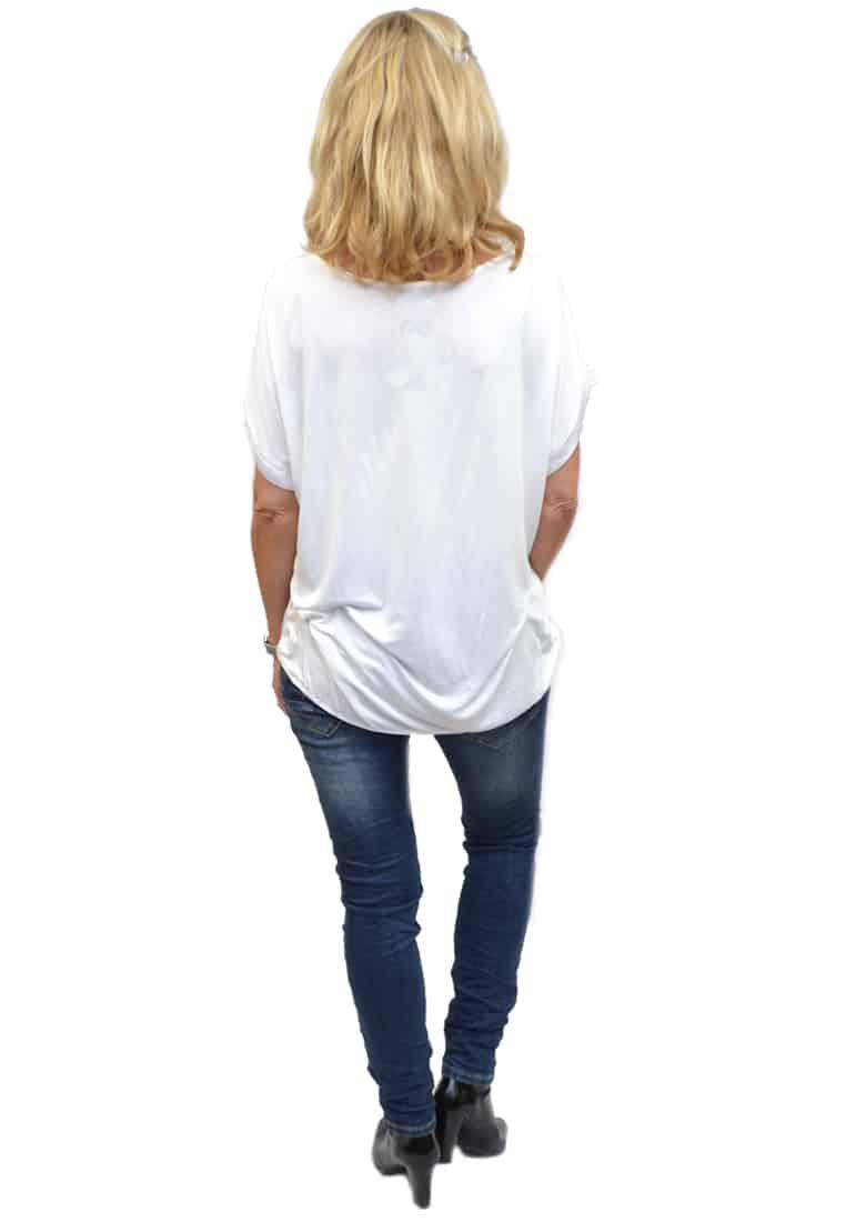 Gemma Ricceri Shirt Wit Achterkant