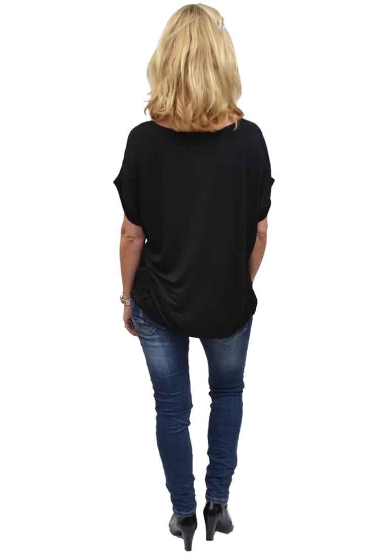 Gemma Ricceri Shirt Zwart Achterkant