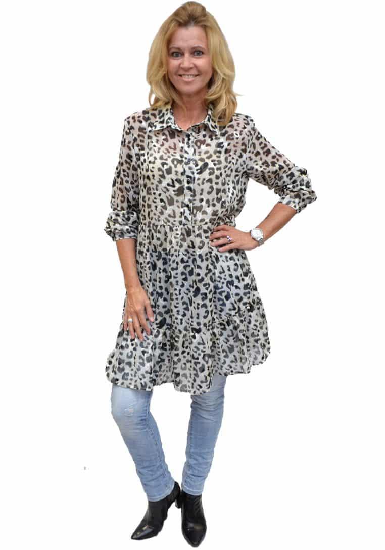 Gemma Ricceri Tuniek Grijs Leopard