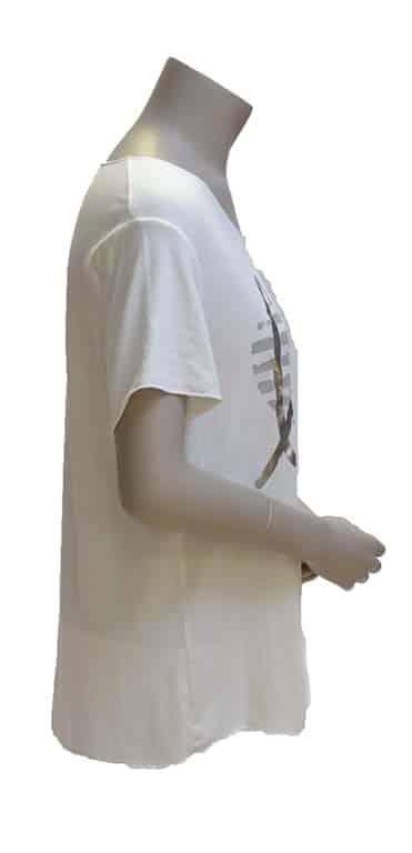Gemma Ricceri Shirt Wit Love Opdruk Zijkant