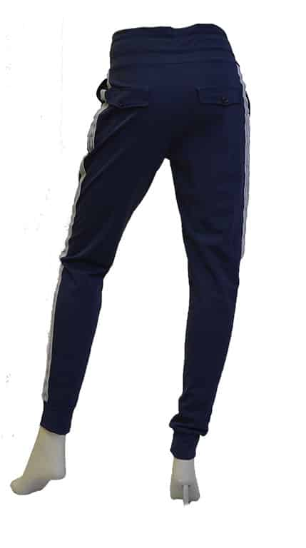 Vera Jo Travel Pants Blauw Streep Wit Achterkant