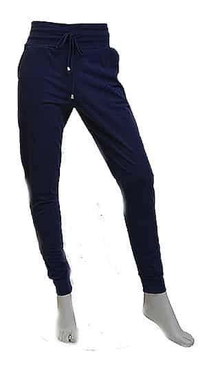 Vera Jo Travel Pants Blauw Streep Wit Voorkant