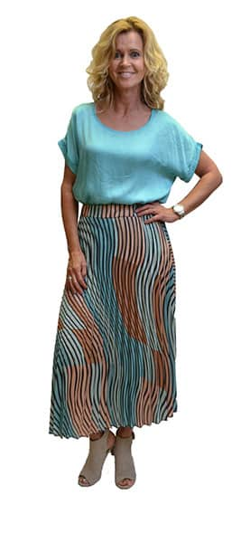 6c6abc2fb7f065 Gemma Ricceri Rok Streep Liviana Turquoise Roze Zwart - DANA ...