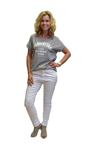 Gemma Ricceri Shirt Manhattan Grijs Wit Voorkant