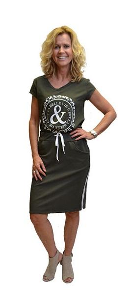 Gemma Ricceri Shirt Print La Belle Vie Groen Voorkant