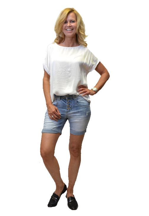 Melly & Co Korte Broek Lichte SpijkerJeans Voorkant