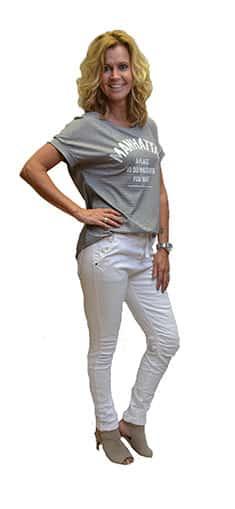 Gemma Ricceri Shirt Manhattan Grijs Wit Zijkant