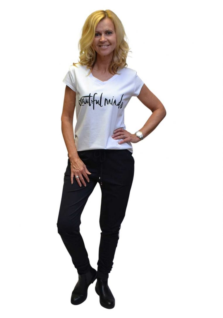 Gemma Ricceri Shirt Wit Beaux V-hals Voorkant