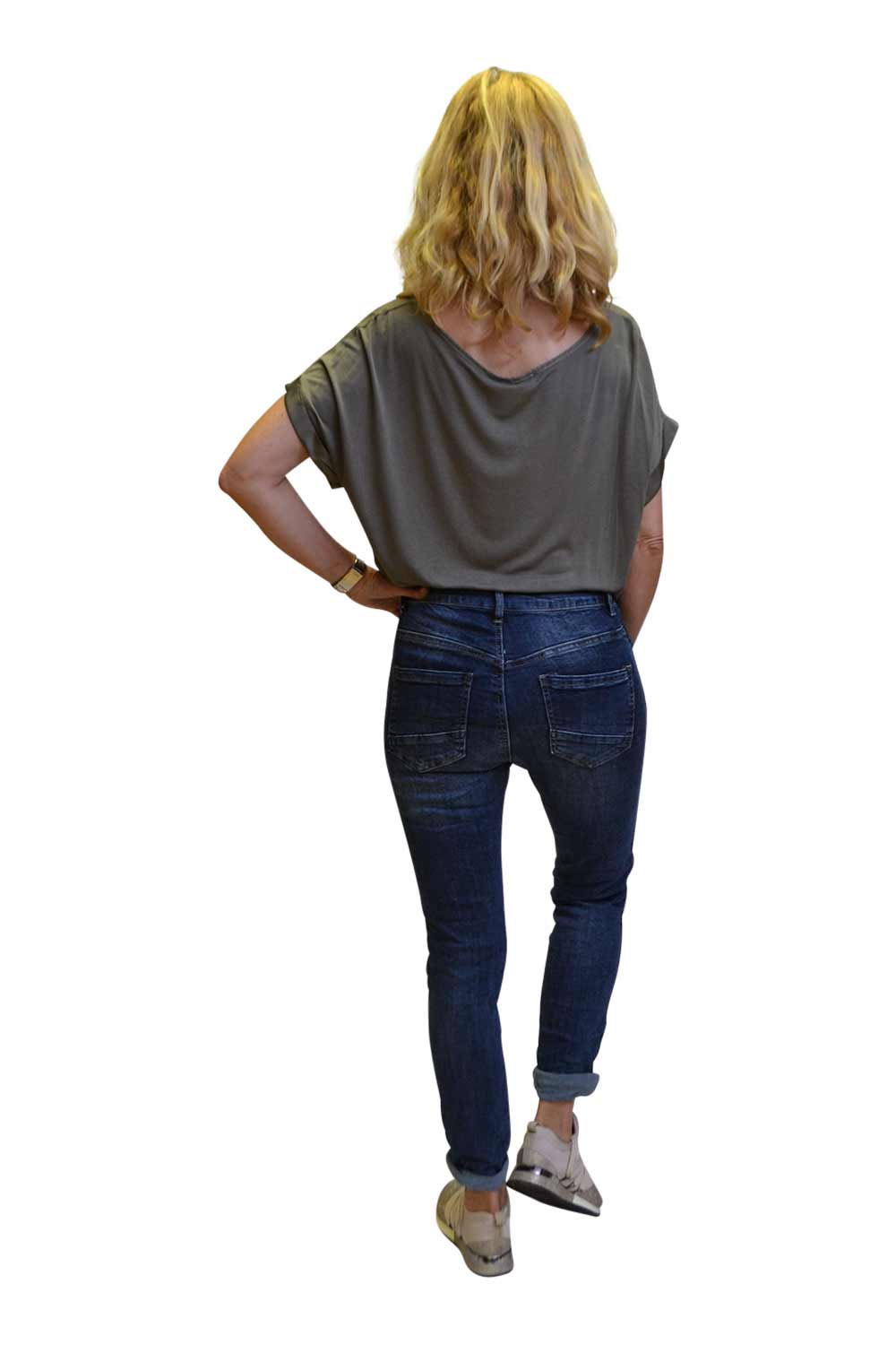 Melly & Co Broek Donkerblauw Hawa Achterkant