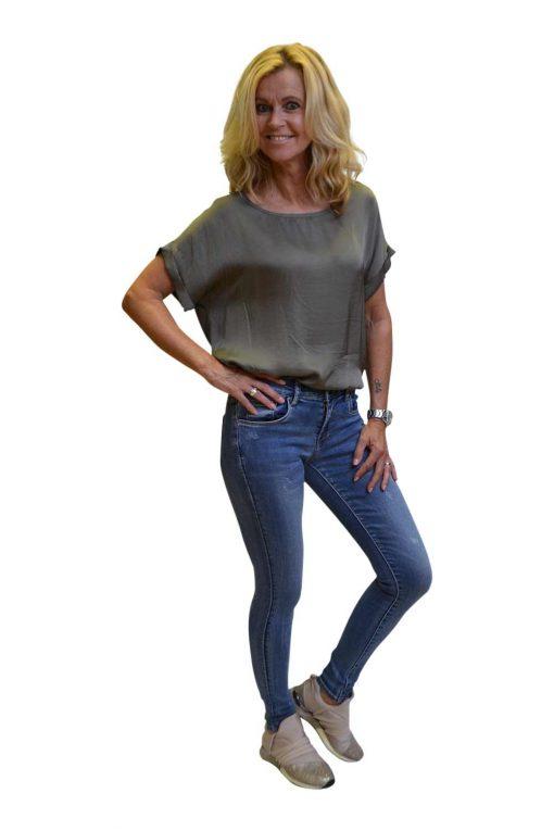 Toxik Lichte Jeans Destroyed Vlekken Ria Zijkant