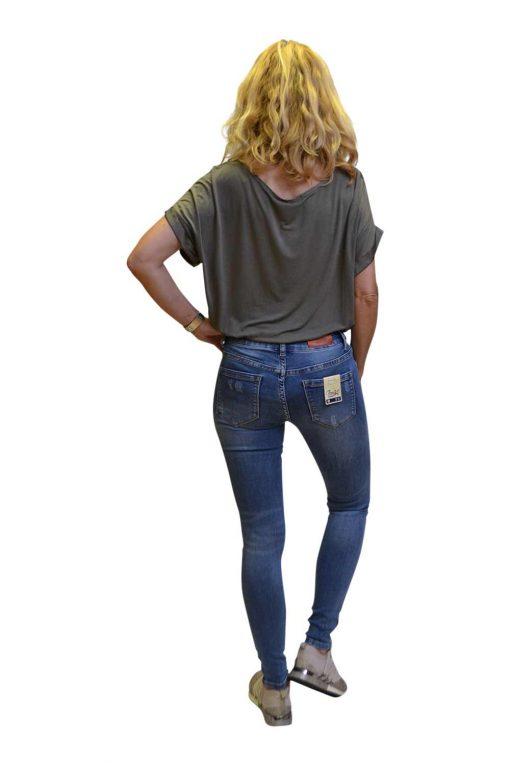Toxik Lichte Jeans Destroyed Vlekken Ria Achterkant