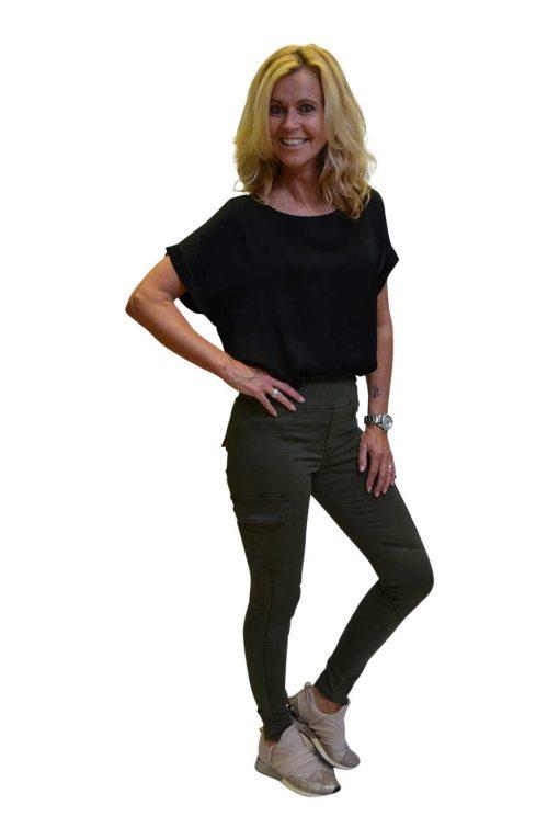 Toxik Jeans Catherina Zijkant Legergroen
