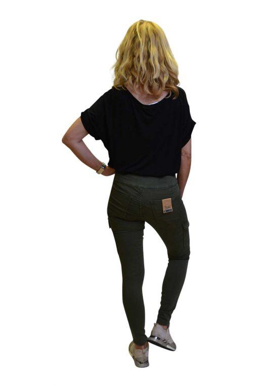 Toxik Jeans Catherina Achterkant Legergroen