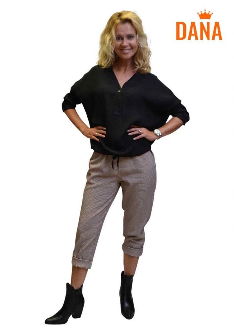 Dana Fashion V-Hals Blouse Nadine Zwart