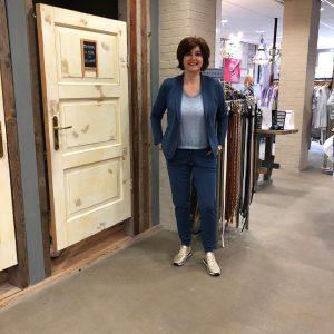 Jeansblauw Blazer Broek Travelstof Mode & Accessoires Store3