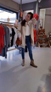 Jeans Toxik - Jasjes Suedine beige - Blouse Ecru onze size Store3 Mode & Accessoires
