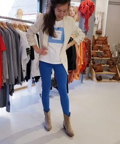 Basic Shirt Blauw Blazer Ecru Broek Kobaltblauw Trendy Store3 Mode & Accessoires
