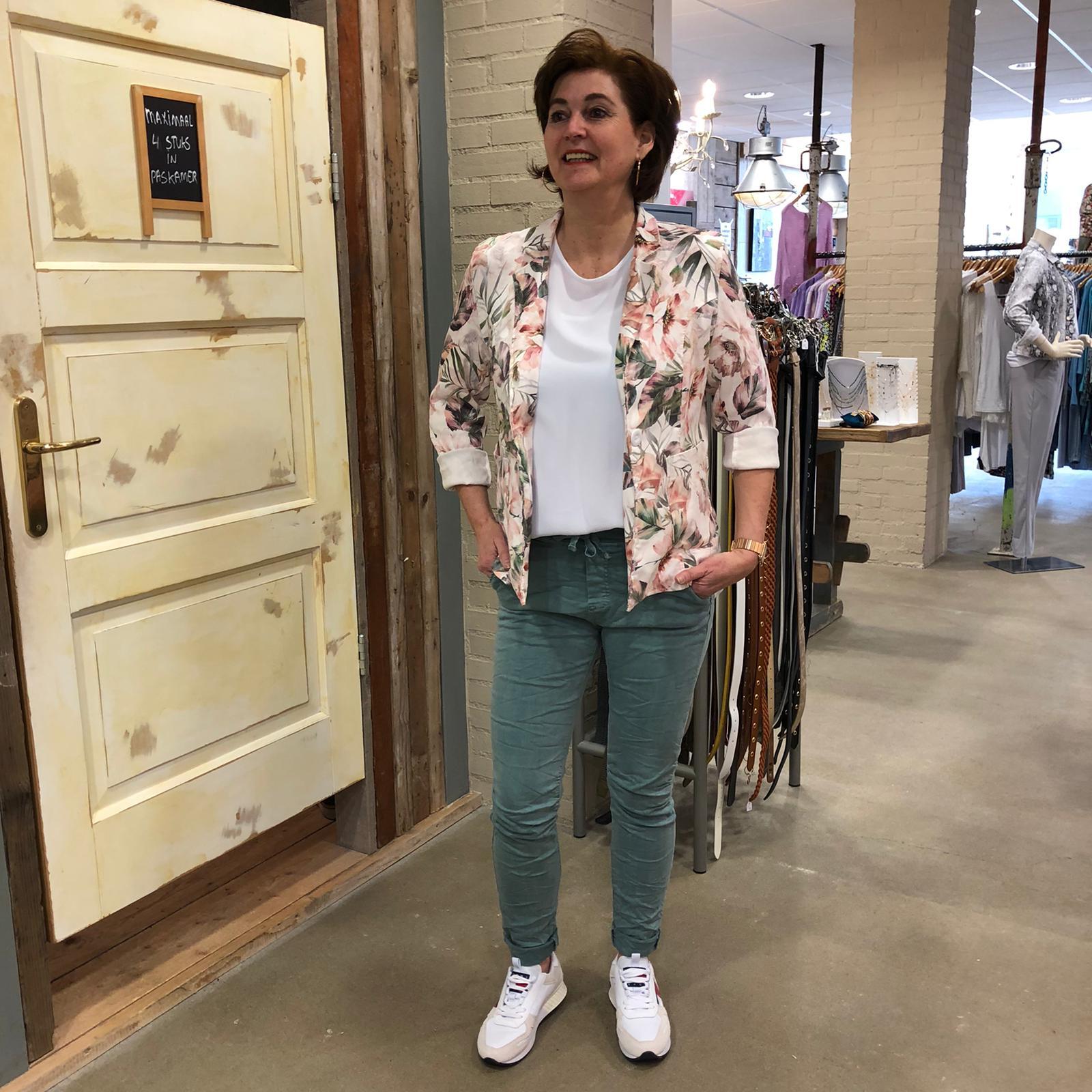 Gemma Ricceri Suedine Blazer Danielle Ecru Roze