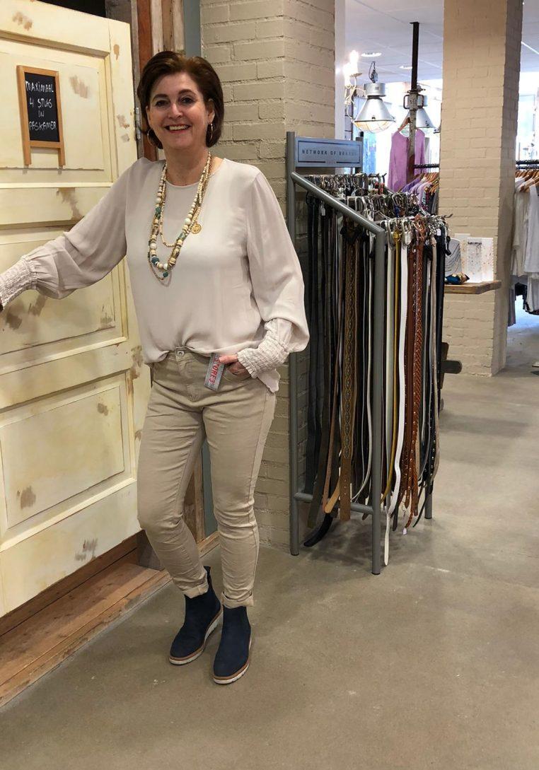 Gemma Ricceri Top Annique Beige Store3 Mode & Accessoires