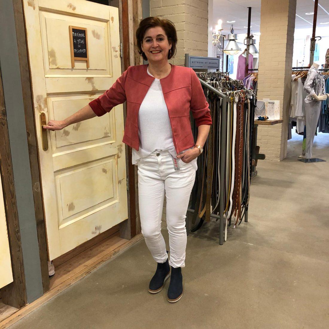 Store3 Suedine Jasje Lyla Koraal Store3 Mode & Accessoires