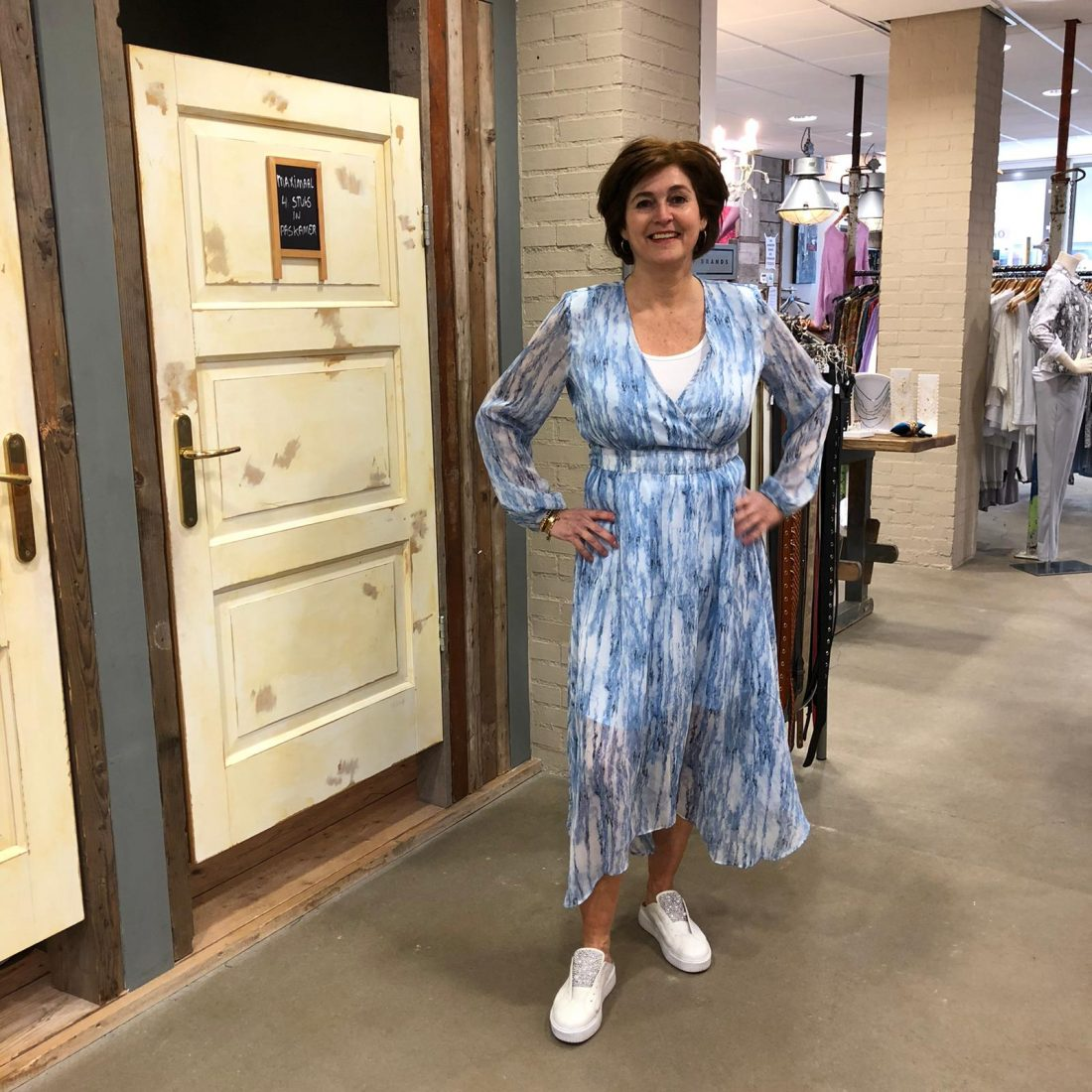 Store3 Jurk Mignon Blauw Store3 Mode & Accessoires