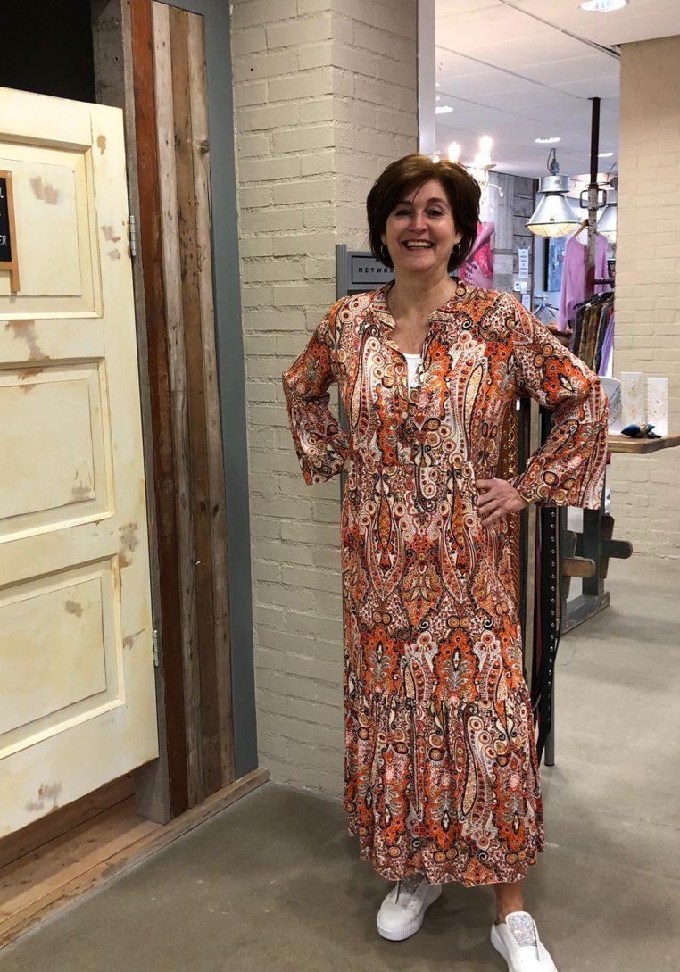 Store3 Jurk Leeloo Paisley Print Oranje Store3 Mode & Accessoires