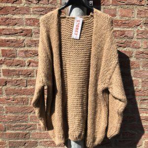 Gemma Ricceri Shirt Adelynn Cognac & Vest Camel Gebreid Losette
