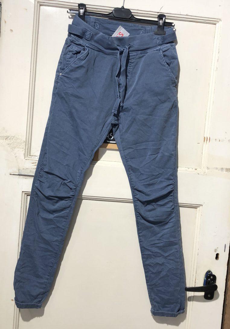 Melly & Co Gesp Broek Jello Jeansblauw