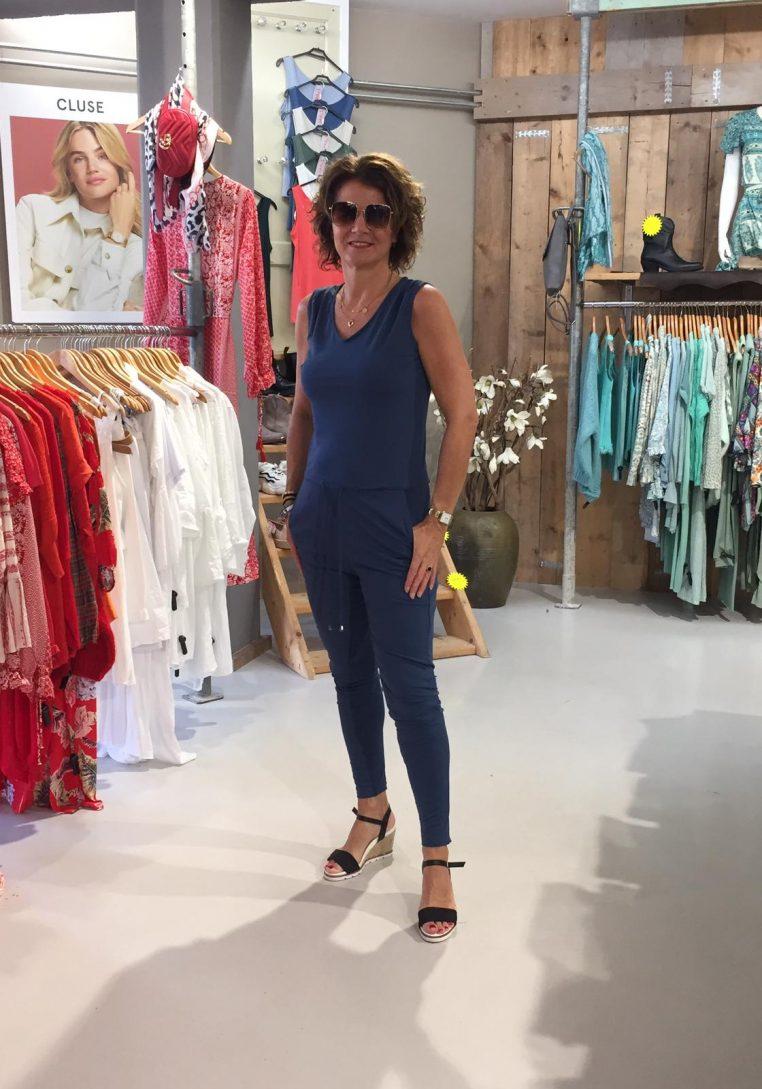 Vera Jo Jumpsuit Adelaide Jeansblauw